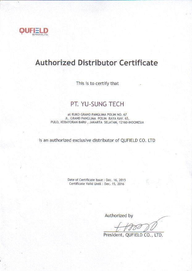 Linkman Authorized Distributor Certificate Pt Yu Sung